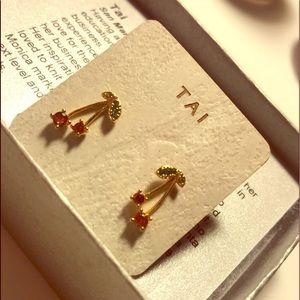 Beautiful Gold TAI Cherry Earrings